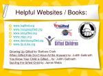 helpful websites books