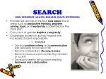 search seek experiment analyze research create hypothesize