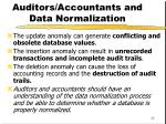 auditors accountants and data normalization