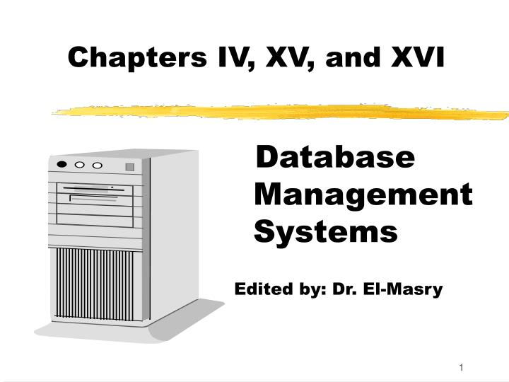 chapters iv xv and xvi n.