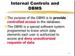 internal controls and dbms