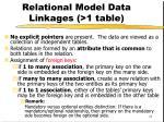 relational model data linkages 1 table