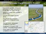 c 111 spreader canal western project