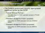 federal appropriations