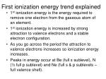 first ionization energy trend explained