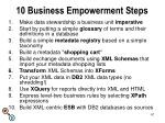 10 business empowerment steps