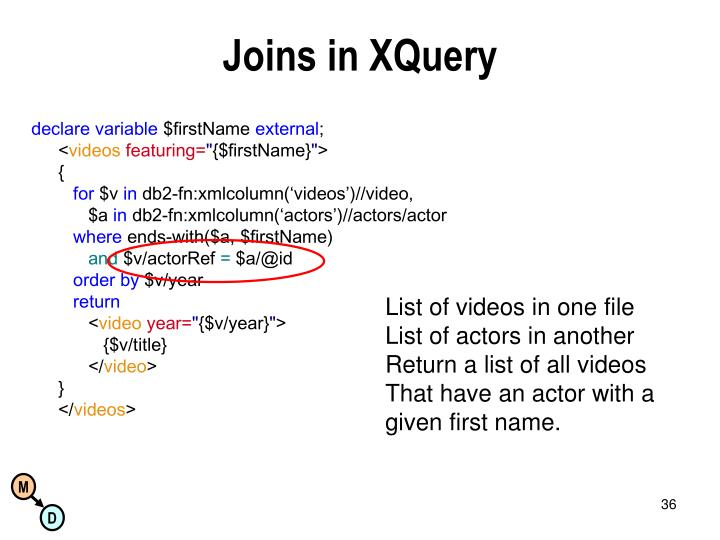 Joins in XQuery