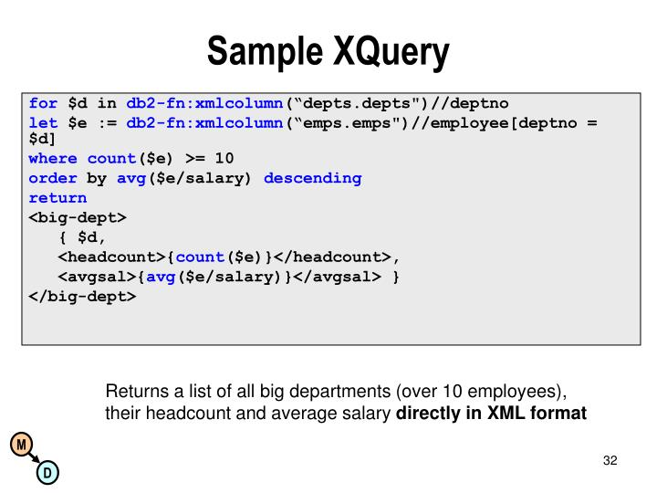 Sample XQuery