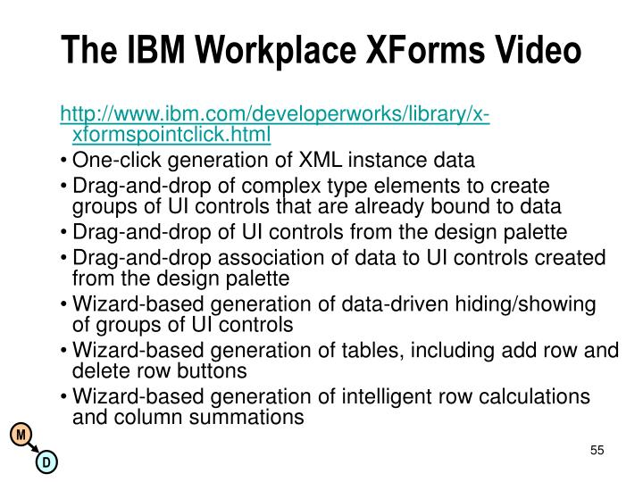 The IBM Workplace XForms Video