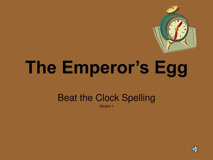 the emperor s egg n.