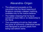 alexandria origen2