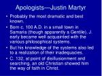 apologists justin martyr