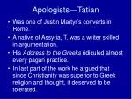 apologists tatian