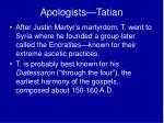 apologists tatian1