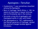 apologists tertullian