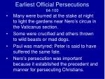 earliest official persecutions 64 1001