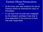 earliest official persecutions 64 1004