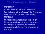 early heresies 2 nd century16