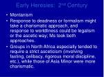 early heresies 2 nd century17