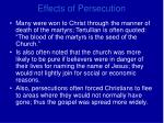effects of persecution