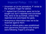 imperial policy 111 1612