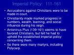 imperial policy 111 1614