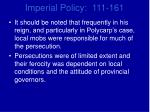 imperial policy 111 1615