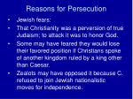 reasons for persecution