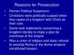 reasons for persecution1