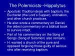 the polemicists hippolytus2