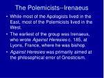 the polemicists irenaeus