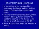 the polemicists irenaeus2
