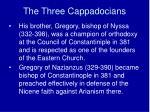 the three cappadocians1