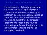 toleration under constantine 161 1804