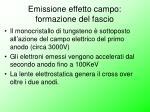 emissione effetto campo formazione del fascio