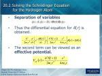 20 2 solving the schr dinger equation for the hydrogen atom