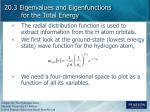 20 3 eigenvalues and eigenfunctions for the total energy5