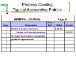 process costing typical accounting entries9