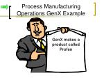 process manufacturing operations genx example