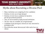myths about recruiting a diverse pool