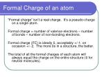 formal charge of an atom