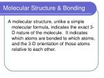 molecular structure bonding