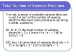 total number of valence electrons