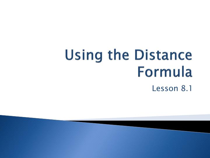 using the distance formula n.