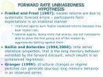 forward rate unbiasedness hypothesis2