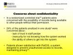concerns about confidentiality