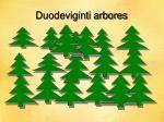 duodeviginti arbores