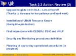 task 2 3 action review 2