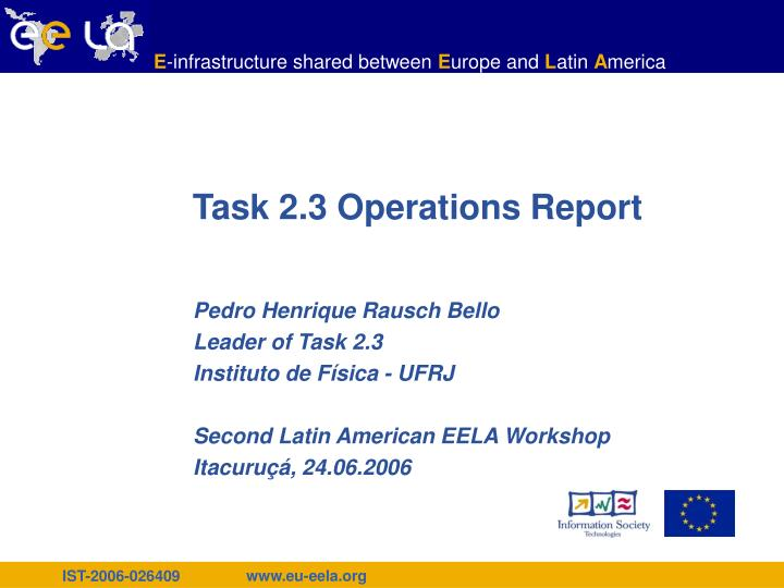 task 2 3 operations report n.