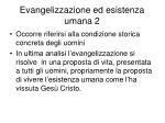 evangelizzazione ed esistenza umana 2